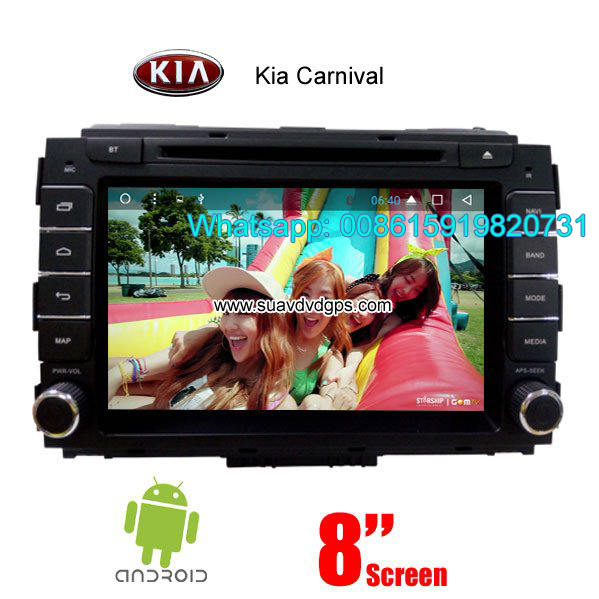 Kia Carnival car audio radio android wifi dvd GPS