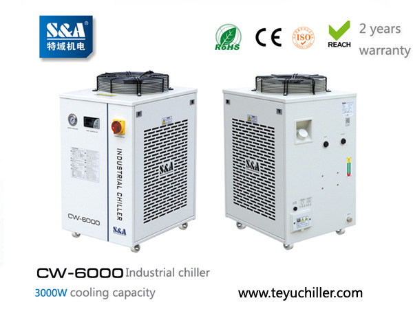 S&A industrial chiller CW-6000 for cooling vacum s